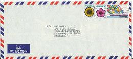 Singapore Air Mail Cover Sent To Denmark 13-6-1975 - Singapore (1959-...)