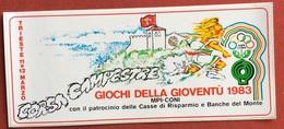 GIOCHI  DELLA GIOVENTU'  1983 TRIESTE ADESIVO - Giochi