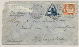 Nederlands Indië - 1934 - Uiver Briefje Van Djokjakarta/1 Naar Heemstede / Nederland - Niederländisch-Indien