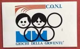 C.O.N.I. GIOCHI  DELLA GIOVENTU' CARTOLINA E ANNULLO SPECIALE  AOSTA  GIOCHI INVERNALI  1973 - Giochi