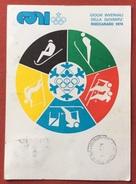 C.O.N.I. GIOCHI DELLA GIOVENTU' CARTOLINA ED  ANNULLO SPECIALE GIOCHI INVERNALI ROCCARASO 1974 - Giochi
