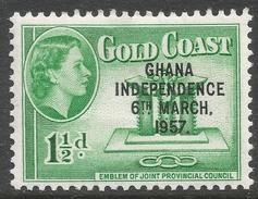 Ghana. 1957-58 Stamps Of Gold Coast O/P. 1½d MH. SG 172 - Ghana (1957-...)