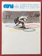 C.O.N.I. GIOCHI DELLA GIOVENTU' CARTOLINA ED  ANNULLO SPECIALE ROMA 1974 - Giochi
