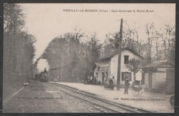61   NEUILLY - LE - BISSON  :  GARE  DESSERVANT  LE  MENIL - BROUT  .  (  2  SCANS R° V°  ) . - France
