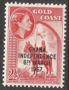 Ghana. 1957-58 Stamps Of Gold Coast O/P. 2½d MH. SG 174 - Ghana (1957-...)