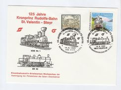 1993 AUSTRIA Railway STEYR KRONPIRZ RUDOLFS BAHN STEAM TRAIN  EVENT COVER Stamps - Trains