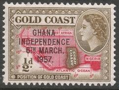 Ghana. 1957-58 Stamps Of Gold Coast O/P. ½d MNH. SG 170 - Ghana (1957-...)
