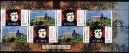 Bund 2017, Michel# HBl. Luther ** 500 Jahre Reformation - [7] Repubblica Federale