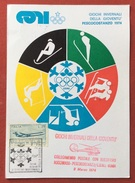 C.O.N.I. GIOCHI DELLA GIOVENTU'  GIOCHI INVERNALI PESCOCOSTANZO 1974 + COLLEGAMENTO POSTALE ROCCARASO - PESCOCOSTANZO - Giochi