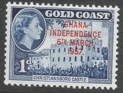 Ghana. 1957-58 Stamps Of Gold Coast O/P. 1d MH. SG 171 - Ghana (1957-...)