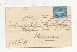 Timbre, Lettre , LA ROCHELLE , 1932 ,  2. 111  932 - 1921-1960: Période Moderne