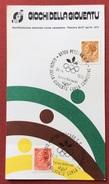C.O.N.I. GIOCHI DELLA GIOVENTU'  CARTOLINA  ED ANNULLO SPECIALE CORSA CAMPESTRE PESCARA 1975 - Giochi