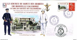 Nouvelle Caledonie Enveloppe Commemorative Club Cagou Timbre Personnalise A Moi Prive Service Sante Armee Hopital U 2016 - Covers & Documents