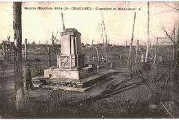 CPA N°7538 - LA GUERRE 1914-18 - CHAULNES - CIMETIERE ET MONUMENT - Chaulnes