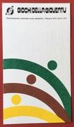C.O.N.I. GIOCHI DELLA GIOVENTU'  CARTOLINA E ANNULLO SPECIALE TARGHETTA ROSSA CORSA CAMPESTRE PESCARA 1975 - Giochi