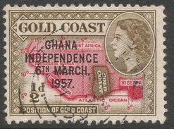 Ghana. 1957-58 Stamps Of Gold Coast O/P. ½d Used. SG 170 - Ghana (1957-...)