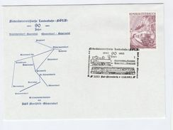 1993 Bad Pirawarth AUSTRIA TRAIN Anniv EVENT COVER Stamps Steam Railway - Trains