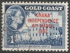 Ghana. 1957-58 Stamps Of Gold Coast O/P. 1d Used. SG 171 - Ghana (1957-...)