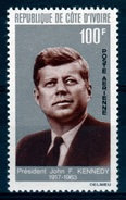 Ivory Coast, John F. Kennedy, 35th President Of The United States 1964, MNH VF Airmail - Ivory Coast (1960-...)