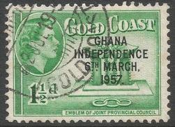 Ghana. 1957-58 Stamps Of Gold Coast O/P. 1½d Used. SG 172 - Ghana (1957-...)