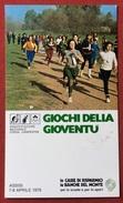 C.O.N.I. GIOCHI DELLA GIOVENTU'  CARTOLINA E ANNULLO SPECIALE SPORT INVERNALIPRE'-SAINT-DIDIER LA THUILE AOSTA 1979 - Giochi