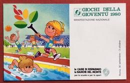 C.O.N.I. GIOCHI DELLA GIOVENTU'  CARTOLINA E ANNULLO SPECIALE  ROMA PRATI 1980 - Giochi