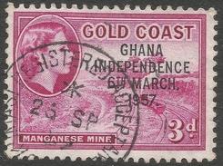 Ghana. 1957-58 Stamps Of Gold Coast O/P. 3d Used. SG 175 - Ghana (1957-...)