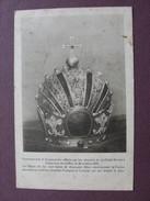 CPA Couronne D'Or Et Pierreries Offerte Par Les Abonnées De La Petite Revue à JESUS Divin Roi En 1924 JOAILLERIE RARE - Christianisme