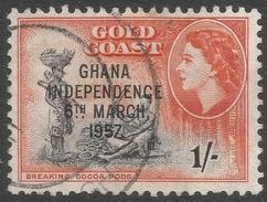 Ghana. 1957-58 Stamps Of Gold Coast O/P. 1/- Used. SG 178 - Ghana (1957-...)