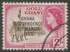 Ghana. 1957-58 Stamps Of Gold Coast O/P. 2/- Used. SG 179 - Ghana (1957-...)