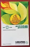 C.O.N.I. GIOCHI DELLA GIOVENTU' CARTOLINA ED  ANNULLO SPECIALE  ROMA 1981 - Giochi