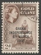 Ghana. 1957-58 Stamps Of Gold Coast O/P. 2d Used. SG 173 - Ghana (1957-...)