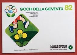 C.O.N.I. GIOCHI DELLA GIOVENTU' ANNULLO SPECIALE  CORSA CAMPESTRE  SALSOMAGGIORE TERME 1982  + CERIMONIA APERTURA - Giochi