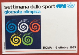 C.O.N.I. GIOCHI DELLA GIOVENTU' CARTOLINA E ANNULLO SPECIALE ROMA GIORNATA OLIMPICA 1983 - Giochi