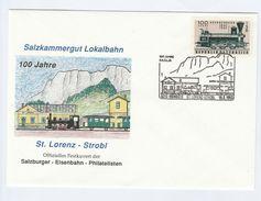 1993  ST LORENZ STROBL RAILWAY 100th Anniv STEAM TRAIN  EVENT COVER  AUSTRIA Stamps T - Trains