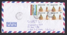 Chad: Airmail Cover To Netherlands 1996, 5 Stamps, Local Building, Hut, People's Palace, Rare Real Use (roughly Opened) - Tsjaad (1960-...)