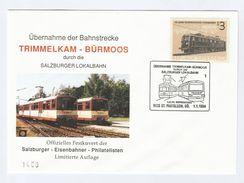 1994 TRIMMELKAM BURMOOS  RAILWAY  EVENT COVER  AUSTRIA Salzburger Lokalbahn St Pantaleon Train Stamps - Trains