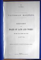 1876 Australia Victoria Victorian Railways Train Report (39 Pages) - Historical Documents