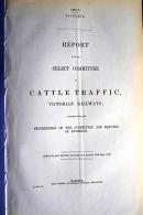 1863 Australia Victoria, Cattle Traffic, Victorian Railways Train Report (19 Pages) - Historische Dokumente
