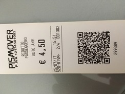 Ticket De Métro / Subway Ticket Pisa Mover - Europe