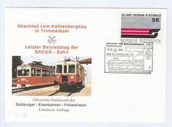 1993 LAST DAY Of  SAKOG  RAILWAY  EVENT COVER  AUSTRIA St Panteleon Train Stamps - Trains