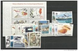 1986 MNH Cyprus, Year Complete, Postfris - Zypern (Republik)