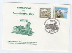 1993 GRAZ STEAM TRAIN FESTIVAL  EVENT COVER  AUSTRIA  Railway Stamps - Trains