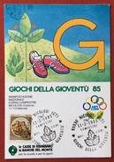 C.O.N.I. GIOCHI  DELLA GIOVENTU' CARTOLINA  E ANNULLO SPECIALE CORSA CAMPESTRE NICOLOSI 1985 - Giochi