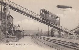CARTE BELLEVUE-MEUDON HAUTS DE SEINE. FUNICULAIRE GARE ET DIRIGEABLE - Trasporti