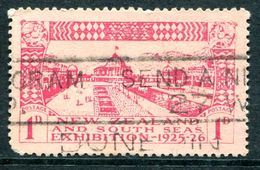 New Zealand 1925 Dunedin Exhibition - 1d Carmine Used (SG 464) - 1907-1947 Dominion