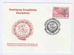1993 LOCOMOTIVE SIMULATOR E LOC 1042  EVENT COVER  AUSTRIA  Stamps Railway Train - Trains