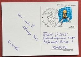AUTOGRAFO DI ELVIO FERIGO  SU CARTOLINA GIOCHI  DELLA GIOVENTU' ROMA 1982 CON L. 1000 ITALIA CAMPIONE DEL MONDO - Giochi