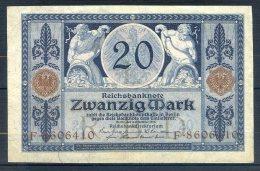 481-Allemagne Billet De 20 Mark 1915 F860 - [ 2] 1871-1918 : German Empire