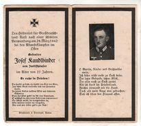 Nr.  9163,  Deutsche Wehrmacht,  Sterbebild, Josef Randlbinder - Guerre 1939-45